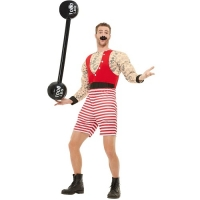 Mens Deluxe Strong Greatest Show Fancy Dress Costume