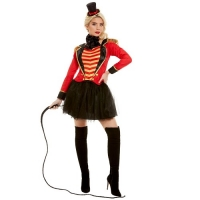 Ladies Deluxe Ringmaster The Greatest Show Fancy Dress Costume