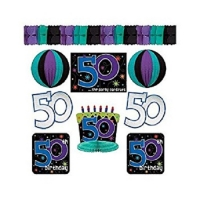 50th Birthday Party Room Decorating Kit
