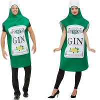 Mens / Ladies Gin Bottle Novelty Fancy Dress Costume