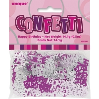 Glitz birthday pink party happy birthday confetti 5oz