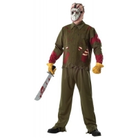 Mens Halloween Fancy Dress Jason Hockey Deluxe Costume