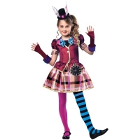 World Book Day Miss Hatter Girls Fancy Dress Costume Alice In Wonderland