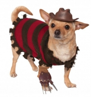 Halloween A Nightmare on Elm Street Freddy Krueger Pet Dog Fancy Dress Costume