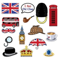 British Photo Booth Props Part Fancy Dress Accessory