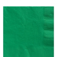 50 Pack Festive Green Luncheon Napkins 33cm Square 2ply Paper