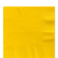 50 Pack Sunshine Yellow Luncheon Napkins 33cm Square 2ply Paper
