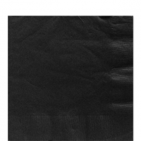 50 Pack Jet Black Luncheon Napkins 33cm Square 2ply Paper