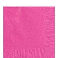 50 Pack Bright Pink Luncheon Napkins 33cm Square 2ply Paper