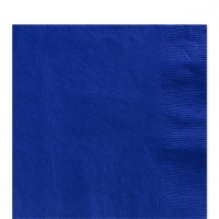 50 Pack Bright Royal Blue Luncheon Napkins 33cm Square 2ply Paper