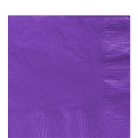 50 Pack Purple Luncheon Napkins 33cm Square 2ply Paper