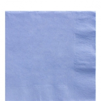 50 Pack Pastel Blue Luncheon Napkins 33cm Square 2ply Paper