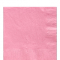 50 Pack Baby Pink Luncheon Napkins 33cm Square 2ply Paper