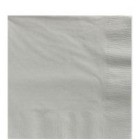 50 Pack Silver Sparkle Luncheon Napkins 33cm Square 2ply Paper