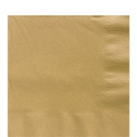 50 Pack Gold Luncheon Napkins 33cm Square 2ply Paper