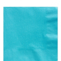 50 Pack Caribbean Blue  Luncheon Napkins 33cm Square 2ply Paper