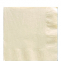 50 Pack Vanilla Creme Ivroy Luncheon Napkins 33cm Square 2ply Paper