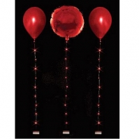 Red Balloon Lights String Tail Celebration Party Decoration 1m