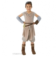 Deluxe Rey Girls Fancy Dress Star Wars Movie Book Week Day Childrens Fancy Dress Costume