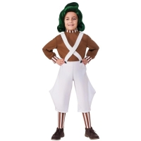 Childrens Oompa Loompa Factory Worker Fancy Dress Costume Book Day