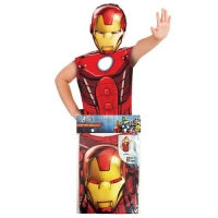 Childrens Superhero Marvel Comics Iron man Fancy Dress Party Pack Kit