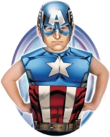 Childrens Superhero Marvel Comics Captain America Fancy Dress Party Pack Kit