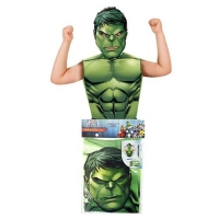 Childrens Superhero Marvel Comics Hulk Fancy Dress Party Pack Kit