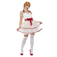 Ladies Halloween Fancy Dress Chequered Gothic Alice Costume