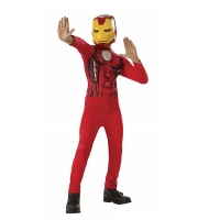 Boys Marvel Avengers Muscle Ironman Superhero Fancy Dress Costume