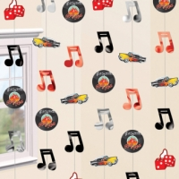1950's Theme Party Decoration Rock and Roll Rock Star Vinyl Hanging Strings Decoration