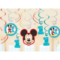 Disney Mickey Mouse Fun to be One Swirl 1st Birthday Party Decoration