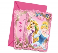 Disney Princess party invites pack of 6 Invitations