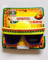 Mexican Sombrero Novelty Sunglasses
