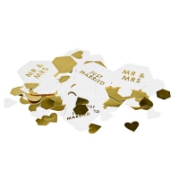 Scripted Marble Mr And Mrs Wedding Table/ Invite Confetti