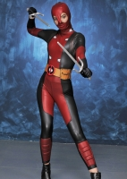 Ladies Deadpool Girl Costume Womens Superhero Fancy Dress Costume