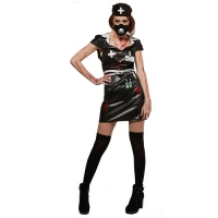 Halloween Ladies Horror Nurse Fancy Dress Costume