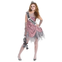 Girls Teens Halloween Fancy Dress Zom Queen Costume