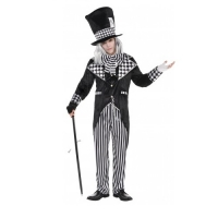 Mens Totally Mad Hatter Halloween Fancy Dress Costume