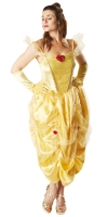 Ladies Deluxe Disney Princess Belle Fancy Dress Costume