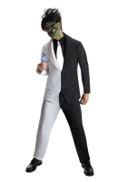 Mens two face Fancy Dress Costume
