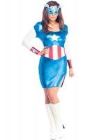 Ladies Miss American Dream  Fancy Dress Costume