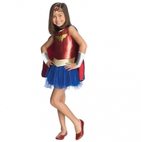 Girls Superhero Wonder Woman Tutu Fancy Dress Costume