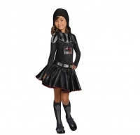 Darth Vader Girls Fancy Dress Star Wars  Fancy Dress Costume