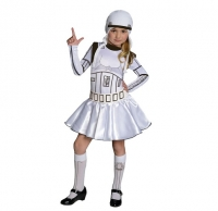 Storm Trooper Girls Star Wars Book Week Fancy Dress Costume