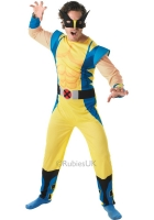 Adult Marvel Wolverine Fancy Dress Costume