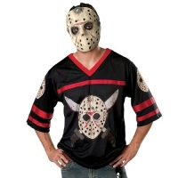 Mens Halloween Fancy Dress Jason Hockey Jersey And Eva Mask Costume