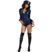 Ladies Miss Demeanour Police Fancy Dress Costume