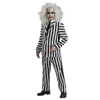 Men's Deluxe Beetlejuice Halloween Crazy  Fancy Dress Costume