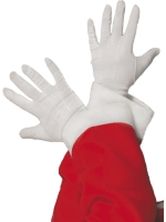 White Christmas Santa Gloves