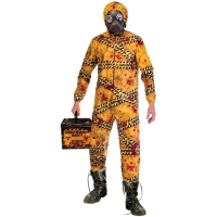 Mens Quarantine Zombie Halloween Fancy Dress Costume